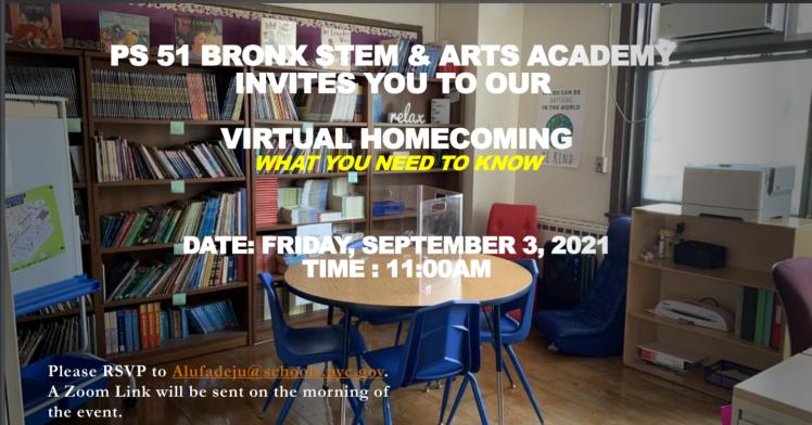 Virtual Homecoming Flyer English