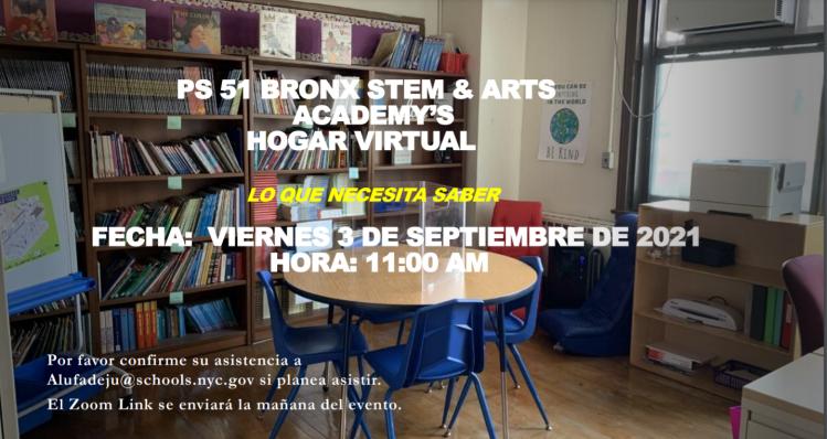 Virtual Homecoming Flyer Spanish